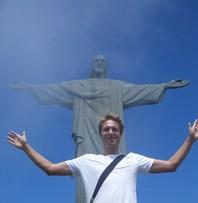 Tourist vor der Christusstatue