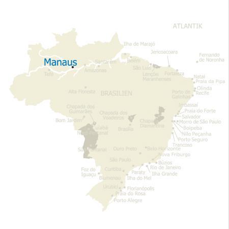 MAP Brasilien Karte Manaus