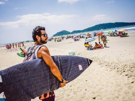 Freizeit am Campeche Strand in Florianopolis