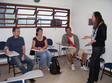 Gruppenunterricht in der Sprachschule in Florianopolis
