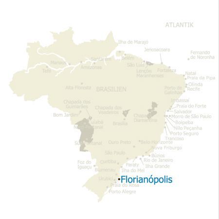 MAP Brasilien Karte Florianopolis