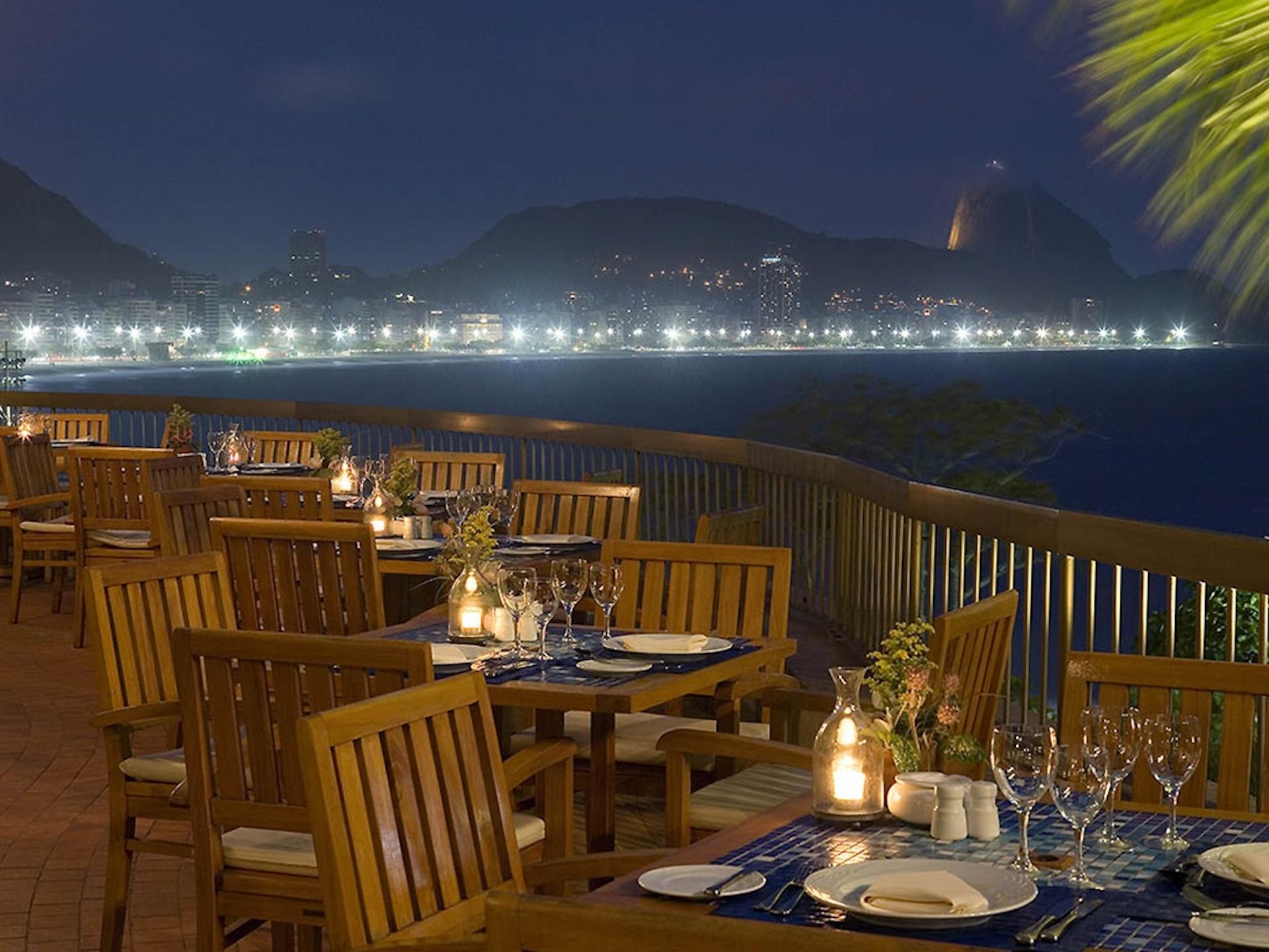 Außengastronomie des Hotel Sofitel Rio de Janeiro