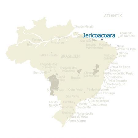 MAP Brasilien Karte Jericoacoara
