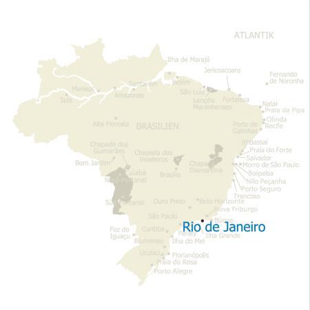 Karte Rio de Janeiro Brasilien