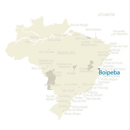 MAP Brasilien Karte Boipeba
