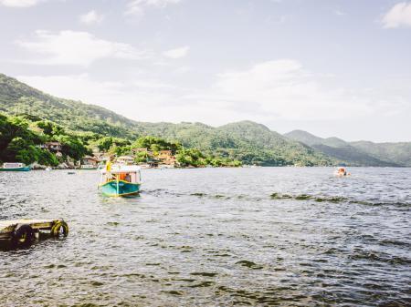 Idyllische Lagoa da Conceicao in Florianopolis