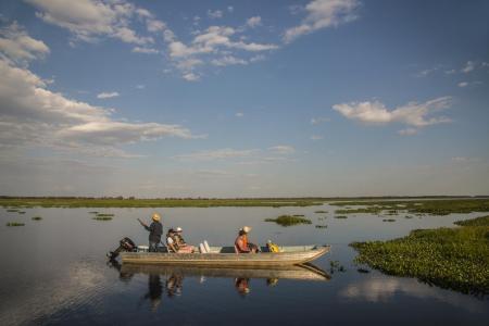 Boot im Nord-Pantanal
