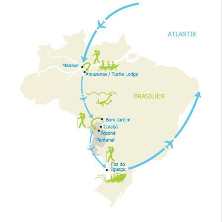 Map Naturparadiese Brasiliens