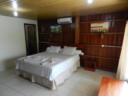 Ein Doppelzimmer der Turtle Lodge