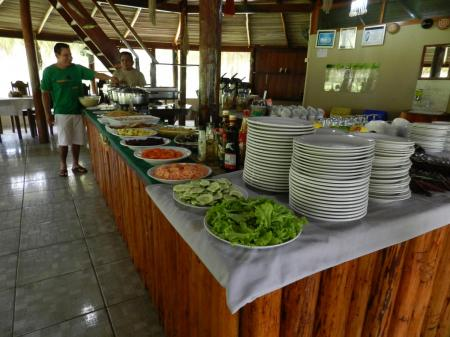 Turtle Lodge: Restaurant mit umfangreichem Buffet