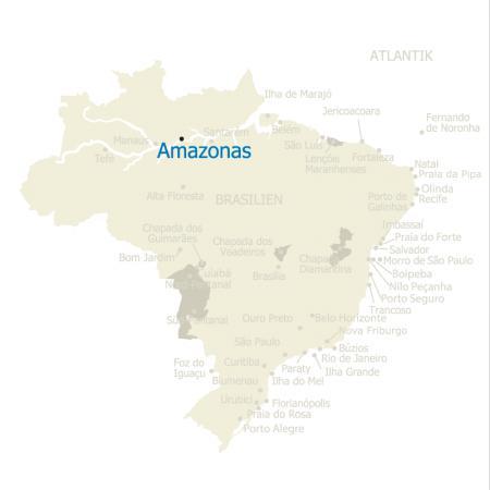 Karte Amazonasgebiet in Brasilien