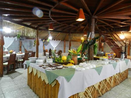 Restaurant der Turtle Lodge