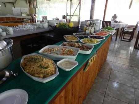 Buffet der Turtle Lodge
