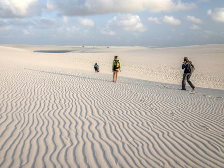 Zu Fuß durch die  Dünen der Lencois Maranhenses