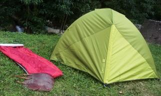 Zelt und Isomatte