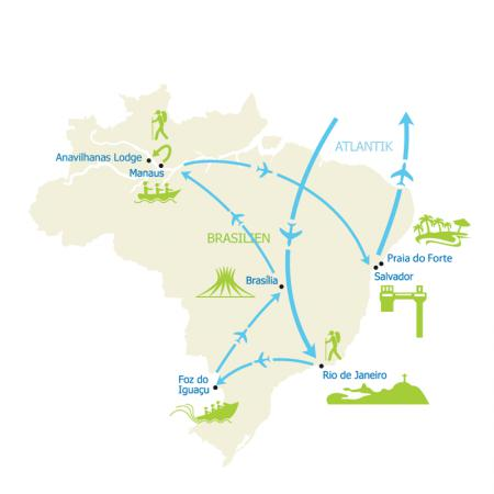 Map Brasilien Deluxe