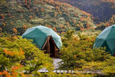 Erleben Sie die einmalige Unterkunft EcoCamp Patagonia auf Ihrer Patagonienreise