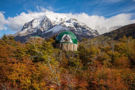 Begeben Sie sich auf eine Trekkingreise durch Patagonien und übernachten Sie im EcoCamp Patagonia