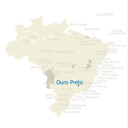 MAP Brasilien Karte Ouro Preto