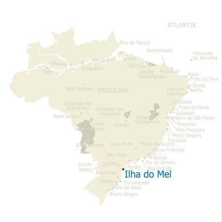 MAP Brasilien Karte Ilha do Mel