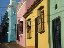 Häuser in Ciudad Bolivar bei einer Reise durch Venezuela.