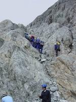 Erklimmen einer Felswand auf dem Pico Bolivar bei einer Reise durch Venezuela.
