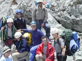 Trekkinggruppe auf dem Pico Bolivar bei einer Reise durch Venezuela.