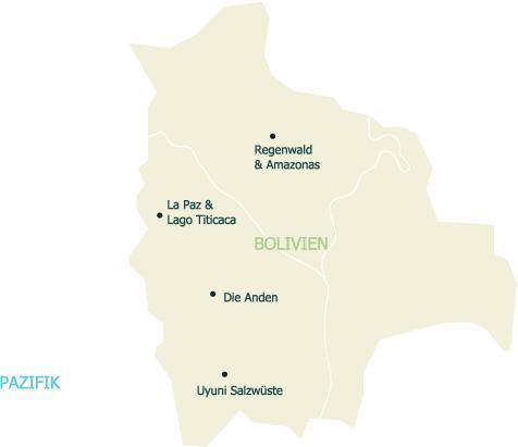Erleben Sie die unterschiedlichen Reiseregionen des südamerikanischen Landes Bolivien