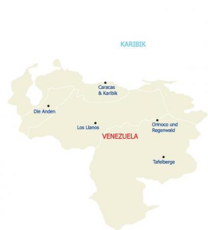 Reisen Sie mit uns durch das kontrastreiche Land Venezuela und seine Regionen
