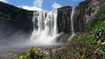 Wasserfall im Gran Sabana bei einer Reise durch Venezuela.