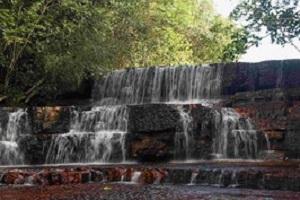 Tepui Roraima Wasserfall bei einer Reise durch Venezuela.
