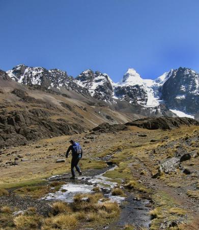 Auf Ihrer Reise dourch Bolivien entdecken Sie die Königskordillere auf einer aktiven Trekkingtour