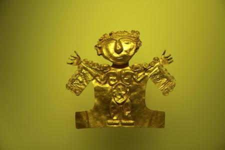 Auf einer Stadttour durch die kolumbianische Hauptstadt Bogota das bekannte Goldmuseum besuchen