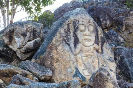 Begeben Sie sich auf die Spuren einer präkolumbianischen Kultur im archäologischen Park San Agustin