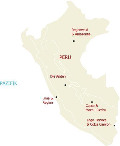 Entdecken Sie die Vielfalt Perus un bereisen Sie die Regionen des Landes mit uns