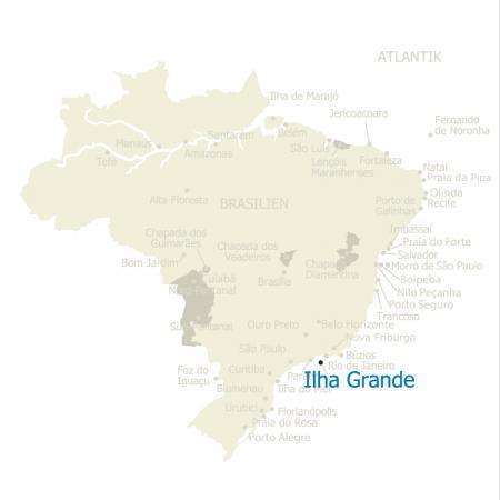Karte Brasilien Ilha Grande