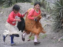 Reise Ecuador Chimborazo Kinder