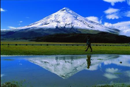 Auf einem Ausflug in den Cotopaxi Nationalpark in Ecuador entdecken Sie den mächtigen Vulkan Cotopaxi