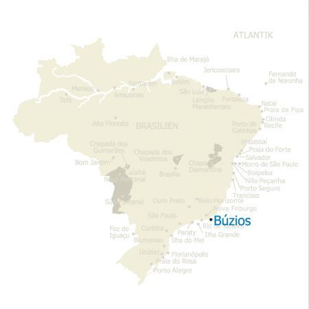 MAP Brasilien Karte Buzios
