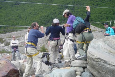 Unternehmen Sie eine Trekkingtour entlang des Fitz Roy Berges in Patagonien