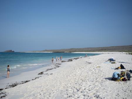Reisen Sie zu den weißen Sandstränden auf den Galapagos Inseln in Ecuador