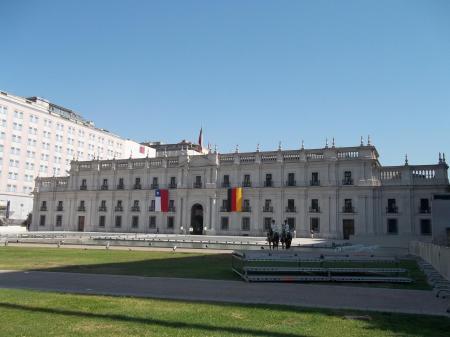 Entdecken Sie das Regierungsgebäude der Hauptstadt Santiago de Chile