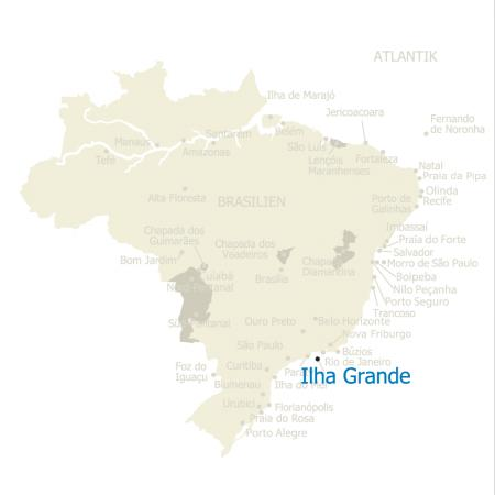 MAP Brasilien Karte Ilha Grande
