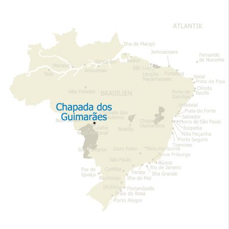 MAP Brasilien Karte Chapada dos Guimaraes