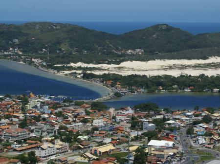 Blick auf das Viertel Lagoa da Conceicao in Florianopolis