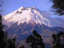 Der Chimborazo Berg, der höchste Berg Ecuadors auf einer Rund Reise
