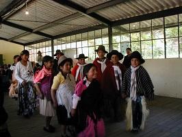 Colambo Indianer auf einer Rndereise durch Ecuador
