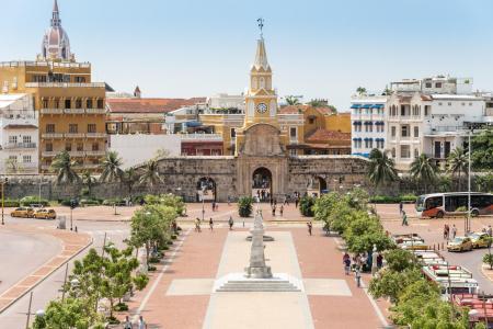 Entdecken Sie das koloniale Stadtzentrum der Karibikstadt Cartagena in Kolumbien