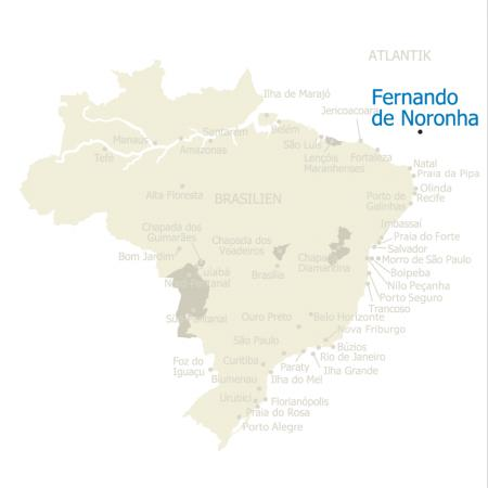 MAP Brasilien Karte Fernando de Noronha