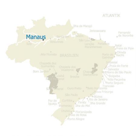 MAP Brasilien Manaus